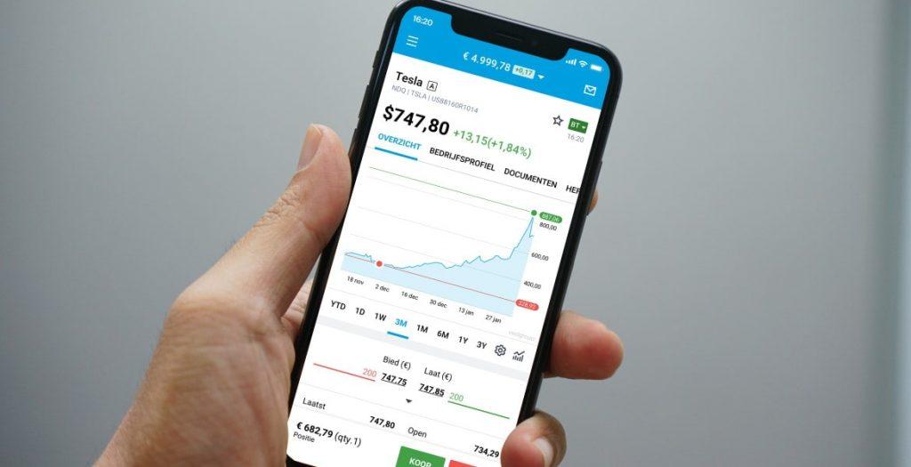 DEGIRO app, beleggingsapp, aandelen app, mobiel beleggen