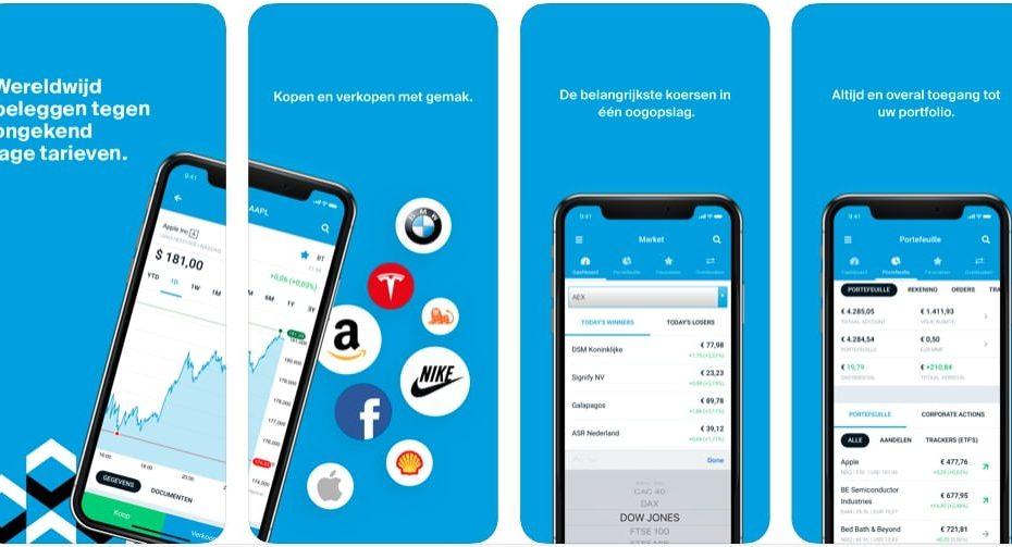 DEGIRO app Mobiel Beleggen app, aandelen app, beste beleggingsapp