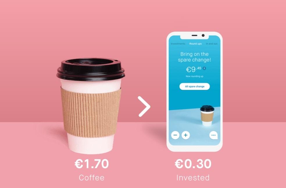 Peaks app, Peaks beleggen met je wisselgeld, Peaks Rabobank app