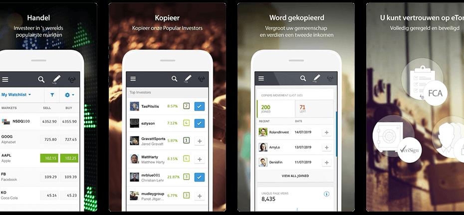 etoro trading app, social trading app